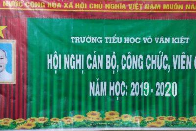 Hội nghị Công chức Viên chức trường Tiểu học Võ Văn Kiệt năm học 2019 – 2020